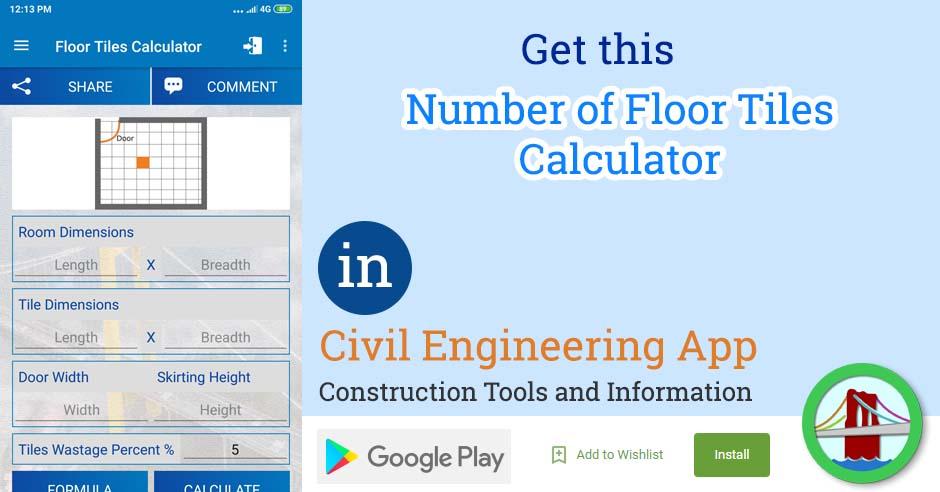 Number of Floor Tiles Calculator